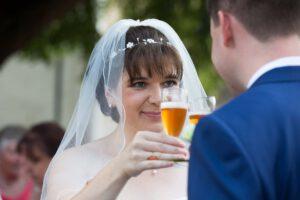 Hochzeitsfotografie Sektempfang